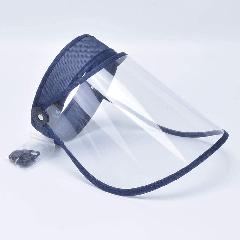 Acant Máscara De Protección Facial, Visera, Máscara Antipolvo, Protección Facial, Superficie De Protección Transparente, Sombrero De Protección De Saliva Ajustable E