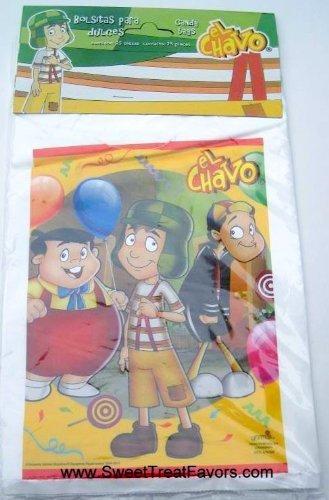 El Chavo Del 8 Bolsitas Para Dulces Treat Loot Bags Party Supply 25 Bags (El 8 Chavo De)