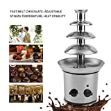 Chocolate Fondue Fountain Electric 4-Tier Stainless Steel Chocolate Fountain