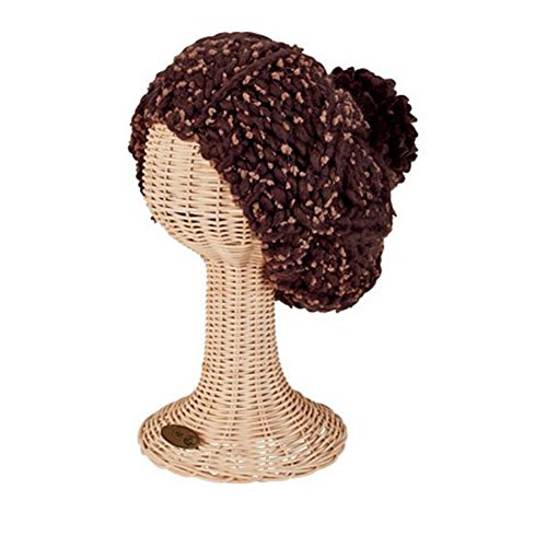 San Diego Hat Company Women's Chunky Yarn Beret Hat, Brown, OS