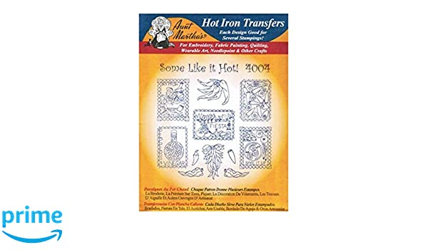 Chili Peppers #4004 Aunt Martha/'s Hot Iron Embroidery Transfer Pattern
