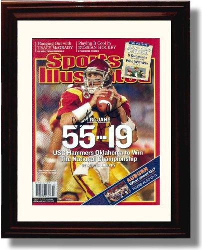 "Framed USC Trojans Matt Leinart ""55-19"" National Champions Sports Illustrated Autograph Print"