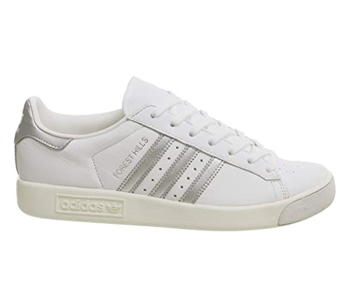 best website 61903 e0f3b adidas Forest Hills White Silver Metallic Off White Exclusive - 4 UK