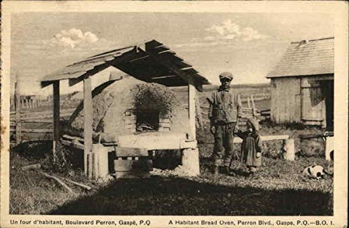 a-habitant-bread-oven-gaspe-quebec-canada-original-vintage-postcard