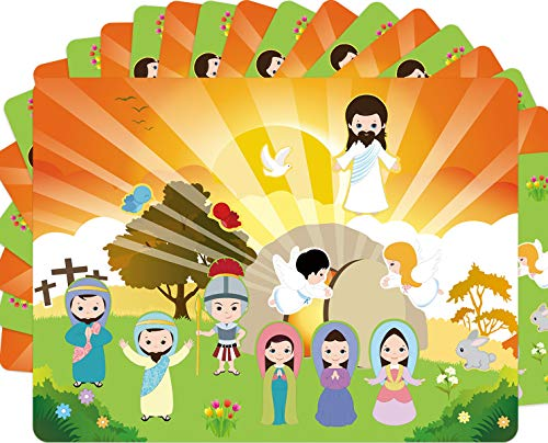 ceiba tree Make an Easter He Lives Sticker Scenes Resurrection Stickers with Backgrounds 12 Sets Easter Religious Crafts School Supply VBS Classroom Activity