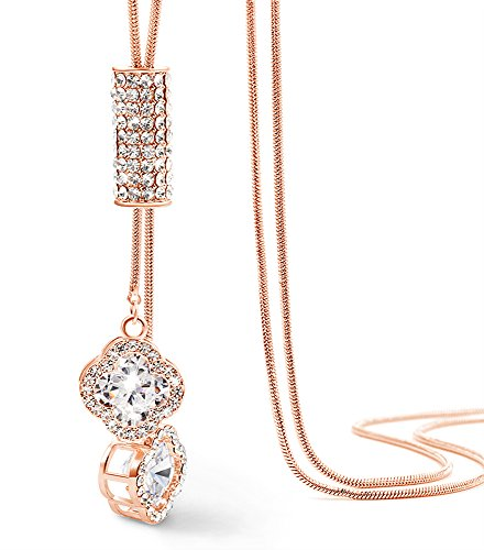 Suyi Exquisite Sweater Necklace Crystal