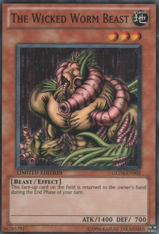 Yu-Gi-Oh! - The Wicked Worm Beast (GLD4-EN003) - Gold Series 4: Pyramids Edition - Limited Edition - Common