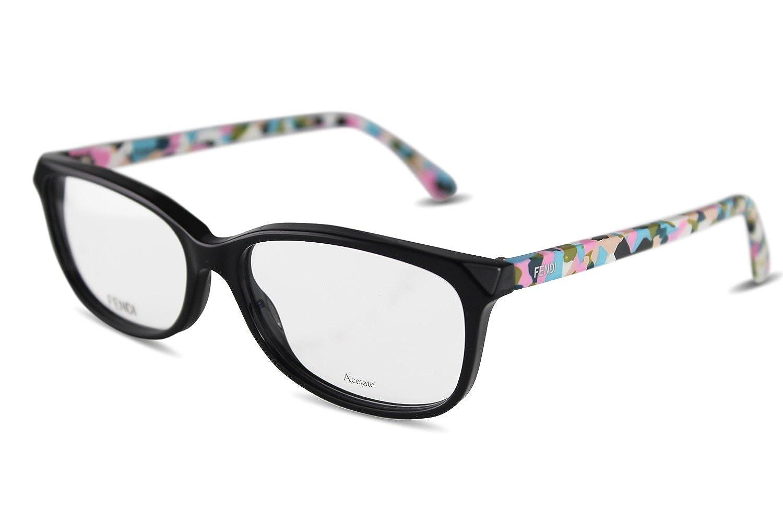 DI Damen Kunststoff Brille FF0173 TTY Schwarz, Bunte Bügel (54-15 ...