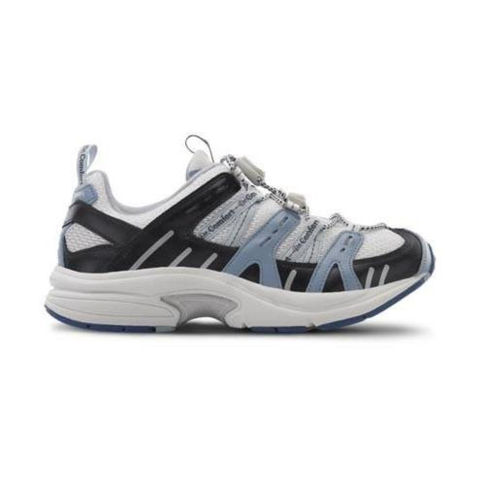 Dr. Comfort Women's Refresh X Blue Diabetic Athletic Shoes - White and Blue -9.0 X-Wide (XW/4E) White/Blue Lace US Woman by Dr. Comfort (Image #1)