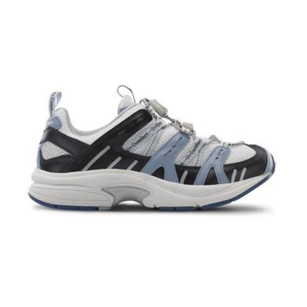 Dr. Comfort Refresh-X Women's Therapeutic Double Depth Shoe: White/Blue 6.5 Medium (M/D) Lace by Dr. Comfort