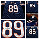 Mike Ditka Signed Autographed Blue Jersey JSA COA