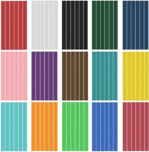 Varillas de pegamento caliente 90 piezas 15 colores