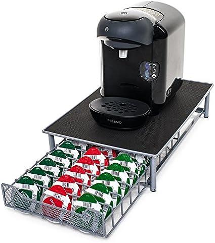 Soporte para cápsulas de café de Tassimo, de la marca Home Treats. Soporte para 60 cápsulas apilables. Superficie antivibración y antideslizamiento, cajones de malla: Amazon.es: Hogar