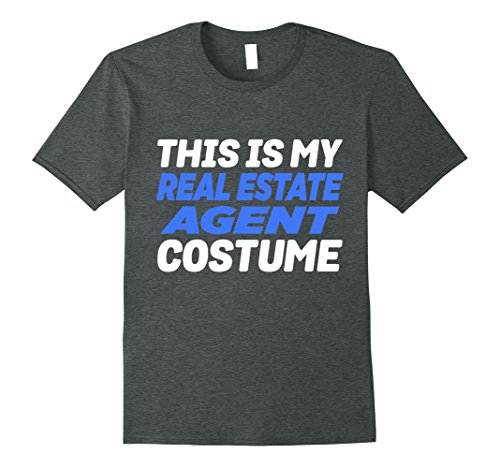 Ice Agent Costume (Mens My Real Estate Agent Costume Funny Lazy T-Shirt 3XL Dark Heather)