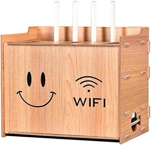 XWYSSH主催 テレビデコーダールータDVDプレーヤーシェルフソケットコードのキットのためのウォールシェルフウォールシェルフシェルフをフローティングのエネルギー貯蔵棚デスクトップストレージ仕上げボックス XWYSSH (色 : Wood Color)