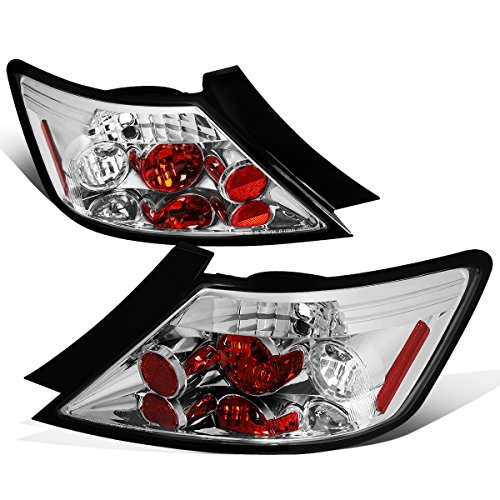 For 2006-2008 Honda Civic 2-Dr Coupe Chrome Housing Altezza Style Tail Light Brake/Parking Lamps