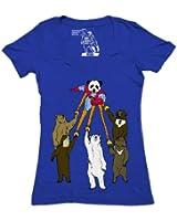 Captain Panda T Shirt Bear Womens Tee Deep V Neck Captain Planet Funny Shirts