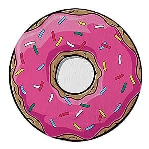 Rosa Donut redondo Roundie círculo de microfibra toalla de playa, diseño de playa manta gigante de rizo rosa Donut: Amazon.es: Hogar