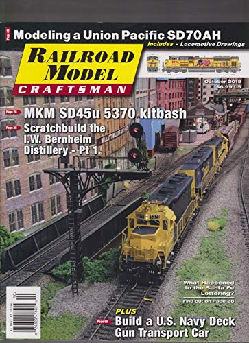 RAILROAD MODEL CRAFTSMAN MAGAZINE OCT 2018. ()