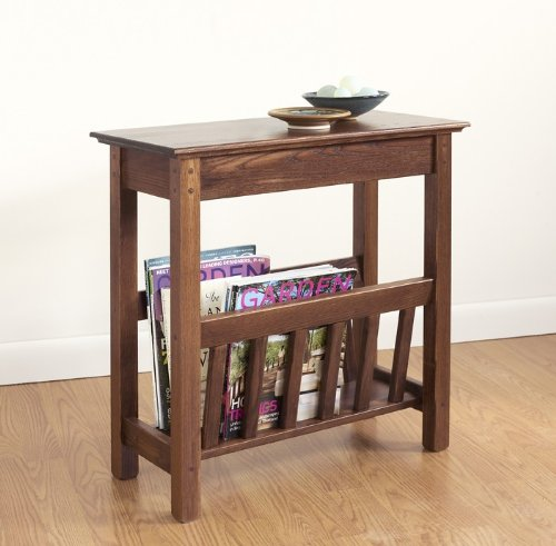 Manchester Wood Chairside Magazine Rack - Chestnut by Manchester Wood: American Made Furniture