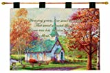 Manual Inspirational Collection Wall Hanging and Finial Rod, Chapel in The Woods with Verse by Thomas Kinkade, 36 X 26-Inch Review