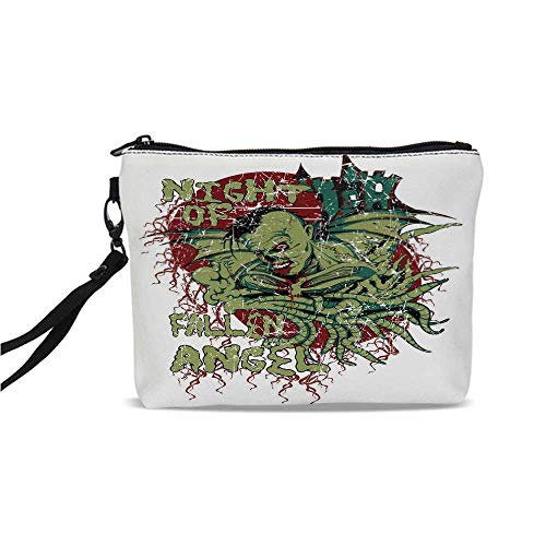 Vampire Simple Cosmetic Bag,Night of Fallen Angel Demonic