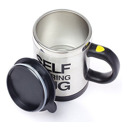 Self Stirring Coffee Mug Black - 3