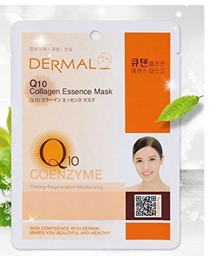 Dermal Korea Collagen Essence Full Face Facial Mask Sheet Pack No8. Q10 23g - Q10 Essence