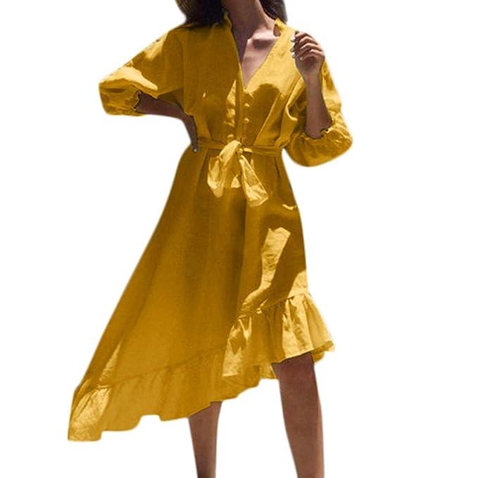 Falda De Flamenco para Mujer Botón De Moda Vendaje Color ...