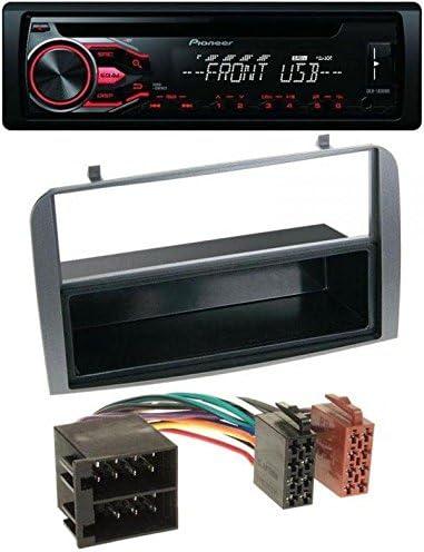 Pioneer Autoradio CD MP3 USB AUX pour Alfa Romeo 147 GT avec compartiment de rangement Anthracite