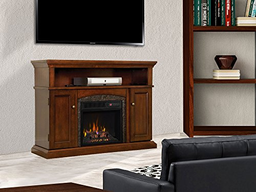 ChimneyFree Lynwood Electric Fireplace Entertainment Center in Vintage Cherry - 18MM4105-C233