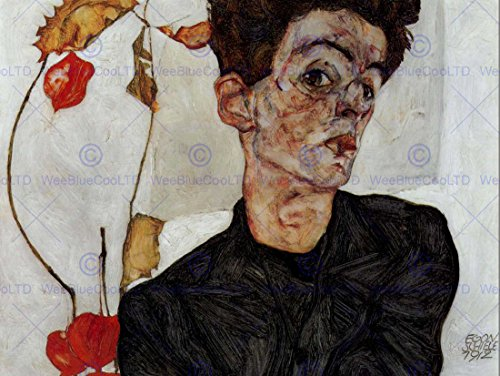 EGON SCHIELE SELF PORTRAIT OLD MASTER ART PAINTING PRINT 12x16 inch 30x40cm POSTER ART (Egon Schiele Self Portrait)