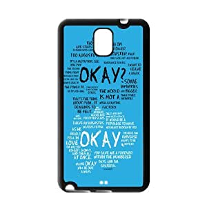 Okay The Fault in Our Stars for Samsung Galaxy Note 3 Best Durable case DK709842