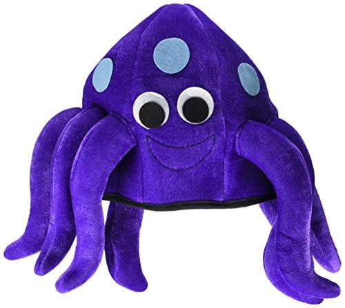Jacobson Hat Company Women's Velvet Octopus Hat, Purple, Adult