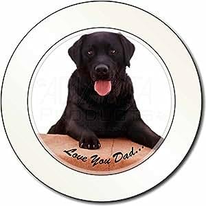 Labrador negro 'Love You Dad' Impuesto de matriculación disco regalo permisionar