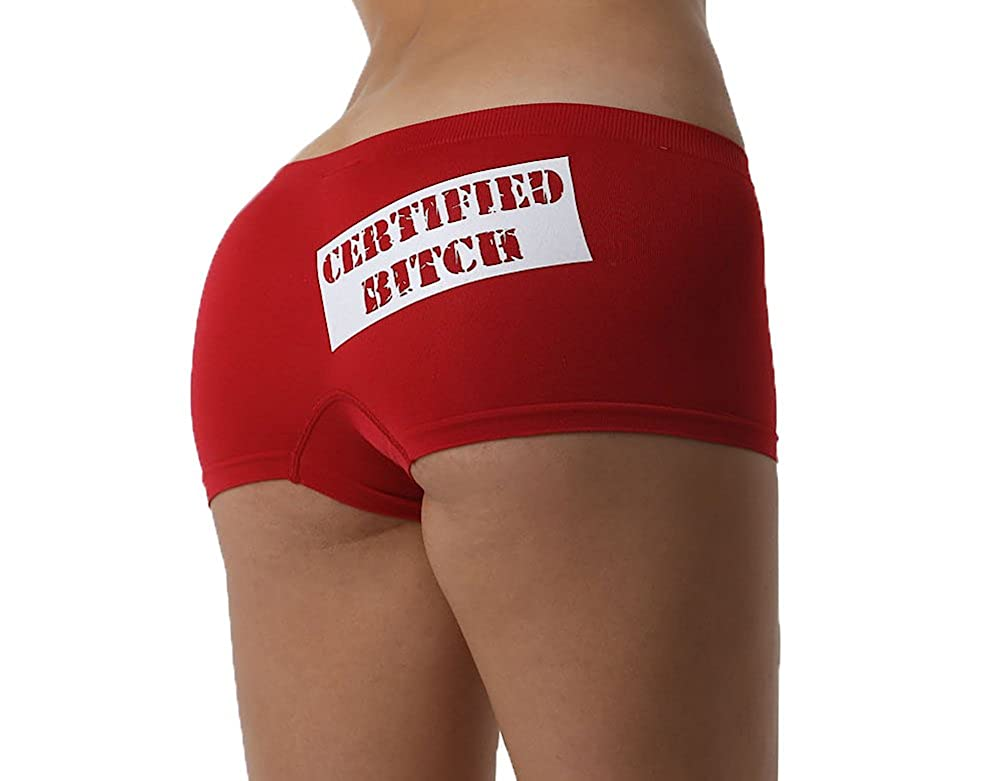 Make Me Laugh Womens Certified Bitch Boy Shorts