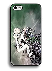 Hard Case for Iphone 6 Plus (5.5) ,Unique Floral Skull and Beautiful Girl