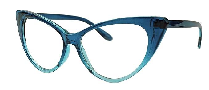 50er Jahre Damen Brille Cat Eye Nerdbrille Klarglas Brillengestell FARBWAHL KE (Polka Dots weiss) gIgGq9haZr