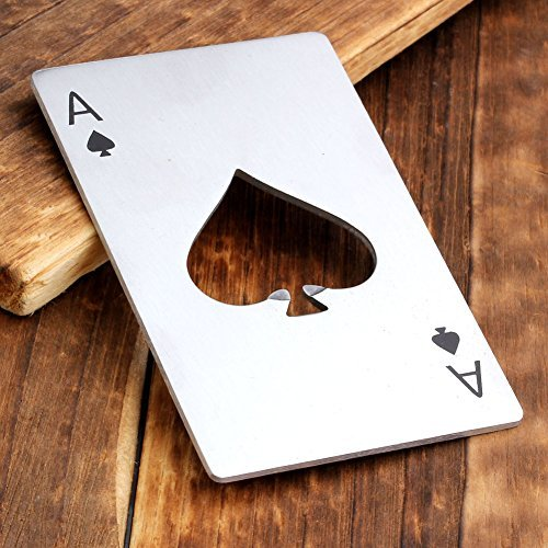 Bottle Opener,Yerwal 5 Pcs Stainless Steel Credit Card Size Casino Bottle Opener for Your Wallet by Yerwal (Image #3)