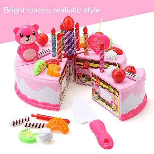 Cido Giocattoli di torta di compleanno che tagliano i bambini dei bambini Modello pretende il gioco dei ruoli Generi ali BHBAZUHAZA6854