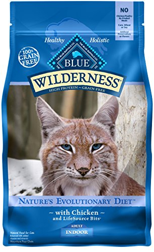 BLUE Wilderness Adult Indoor Grain Free Chicken Dry Cat Food 5-lb
