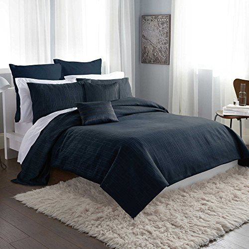 DKNY City Line Euro Pillow Sham-Midnight