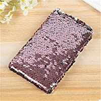 FunBlast Sequin Notebook for Girls, Stylish Sequin Diary - Color Changing Reversible Girls Diary – Size – A5 (Rose Gold)