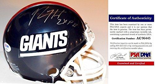 Rodney Hampton Autographed Signed New York Giants Throwback Mini Helmet with 2x Pro Bowler Inscription - PSA/DNA ()