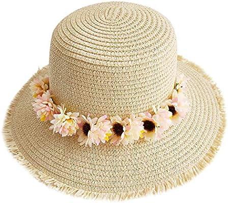 Xiaojing - Gorra de mezclilla con bordado de flores para mujer y ...