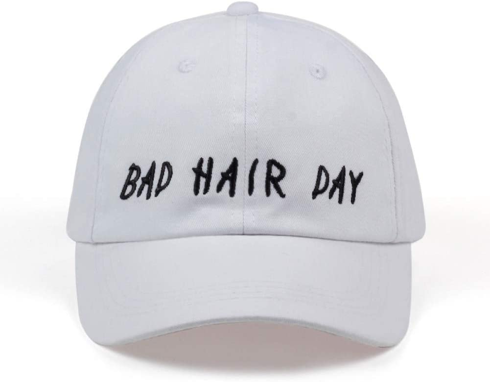 TTXSKX Gorras De Béisbol De Algodón Bad Hair Day Gorras Negras del ...