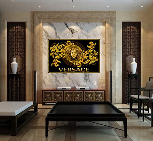 purenet Versace Abstract Art On Canvas Made in The US (30X40)