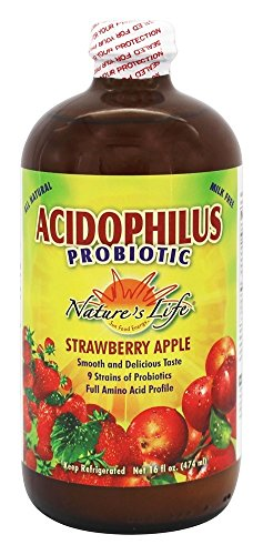 Nature's Life - Acidophilus Probiotic Strawberry Apple - 16 - Strawberry Vitamins Apple