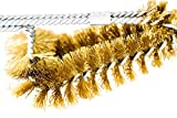 Backyard Dudes® BBQ Grill Brass Cleaning Brush 15'' Made in USA Brass Dual Sets bristles Soft