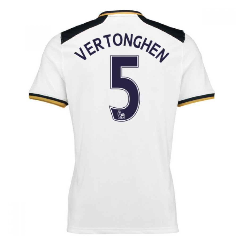 2016-17 Tottenham Home Football Soccer T-Shirt Trikot (Jan Vertonghen 5)
